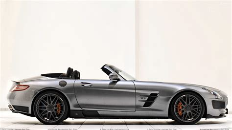 Side Pose Of Brabus Mercedes Benz Sls Amg Roadster In