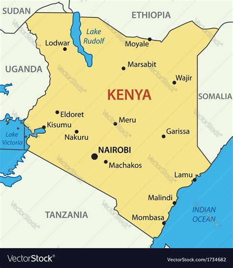 kenya political map  travel information