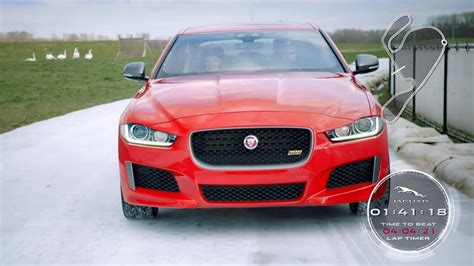 2019 Jaguar Xe 300 Sport Ice Race Youtube