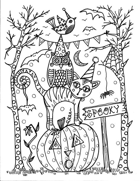 pages instant  halloween coloring pages
