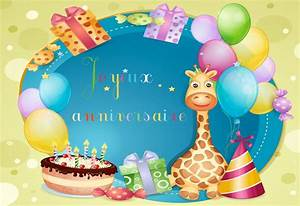 Carte Anniversaire Pour Enfant : cartes virtuelles enfant anniversaire joliecarte ~ Melissatoandfro.com Idées de Décoration