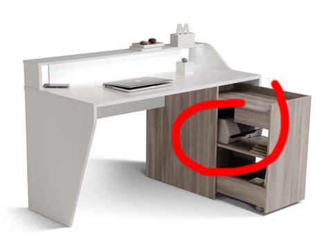 bureau pour pc portable et imprimante la camif se lance dans le mobilier connecté avec un bureau