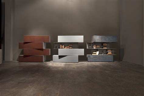 Inclinart Bookcase By Presotto Industrie Mobili