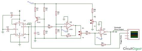 sawtooth waveform generator circuit using op