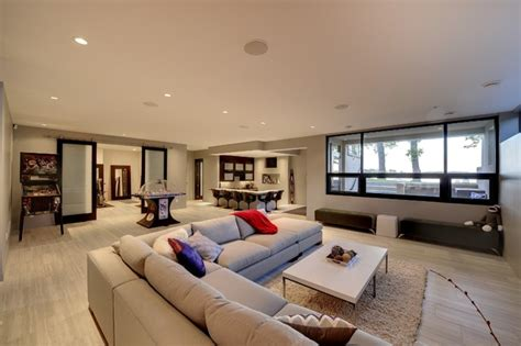 level entertaining space contemporary living room