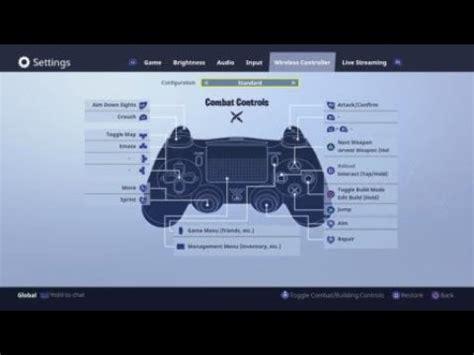 change  controller settings  fortnite