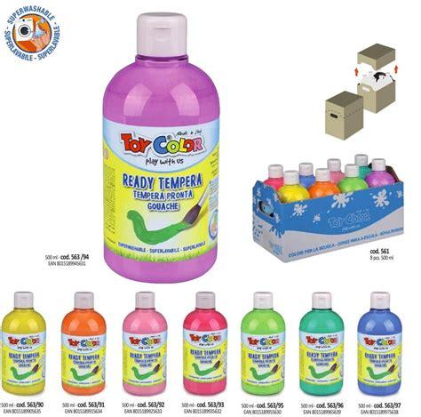 Tempera guaša krāsa ToyColor - superwashable 250 ml ...