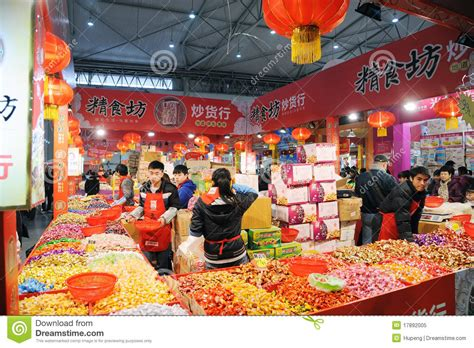 Chinese New Year Shopping In Chengdu Editorial Image