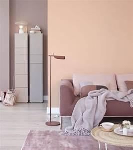 Wandfarben Brauntöne Wohnzimmer : pfirsichfarbe trifft auf braunt ne bild 11 living at home ~ Markanthonyermac.com Haus und Dekorationen