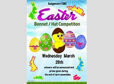 FOBs' Easter Bonnet Hat Competition Badgemore Primary