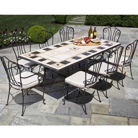 9 carnival marble mosaic outdoor furniture set from