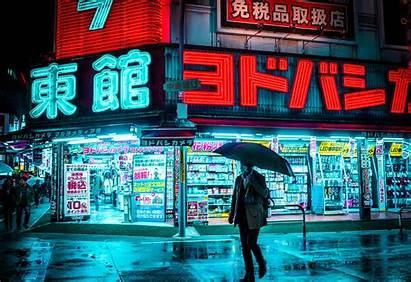 Neon Tokyo Wallpapers Japan Streets Cyan Cyberpunk