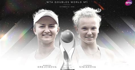 Get the latest player stats on barbora krejcikova including her videos, highlights, and more at the official women's tennis association website. Krejcikova and Siniakova earn World No.1 doubles ranking