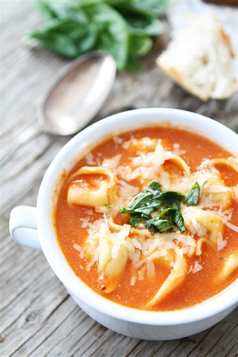 tomato tortellini soup creamy tomato tortellini soup recipe tortellini soup two peas their pod