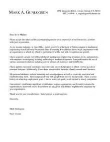 mechanical engineer resume cover letter exles cover letter mechanical engineer cover letter sle