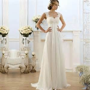 robe simple mariage 2016 simple wedding dresses a line cap sleeve chiffon maternity robe de