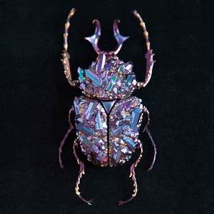 Visual archive colossal for Beetle sculptures encrusted with minerals by nozomi