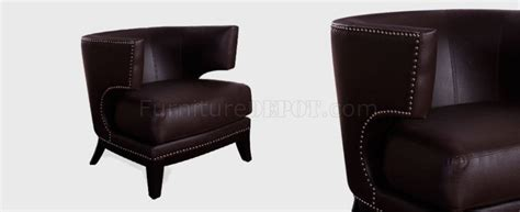brown faux leather modern eclipse club chair