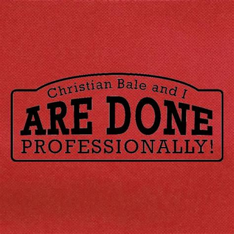 christian bale     professionally bag