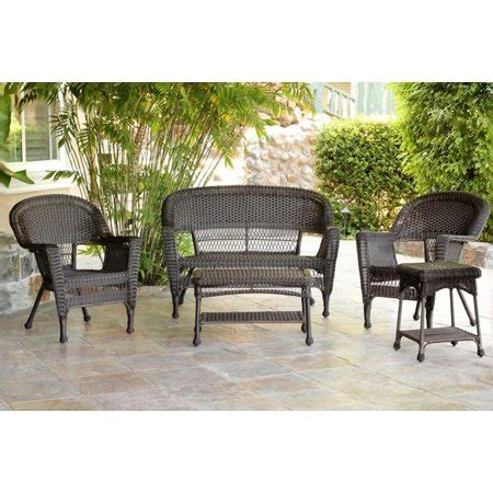 Resin Patio Furniture by 5 Espresso Resin Wicker Patio Chairs Loveseat And