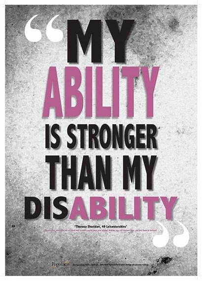 Being Quotes Disabled Quotesgram Poster