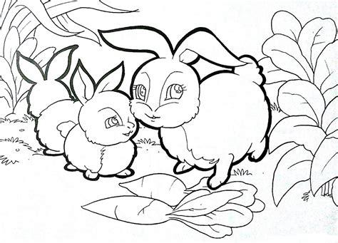 kumpulan gambar mewarnai binatang kelinci untuk anak tk