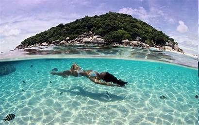 Tropical Underwater Beach Island Thailand Summer Nature
