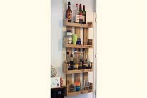 Etagere Cuisine Bois etag 232 res murales de cuisine en bois de palettes la vie