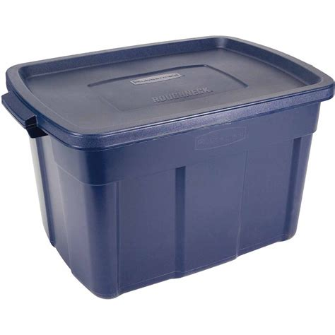Rubbermaid Roughneck Tote Storage Bin 25 Galon Blue