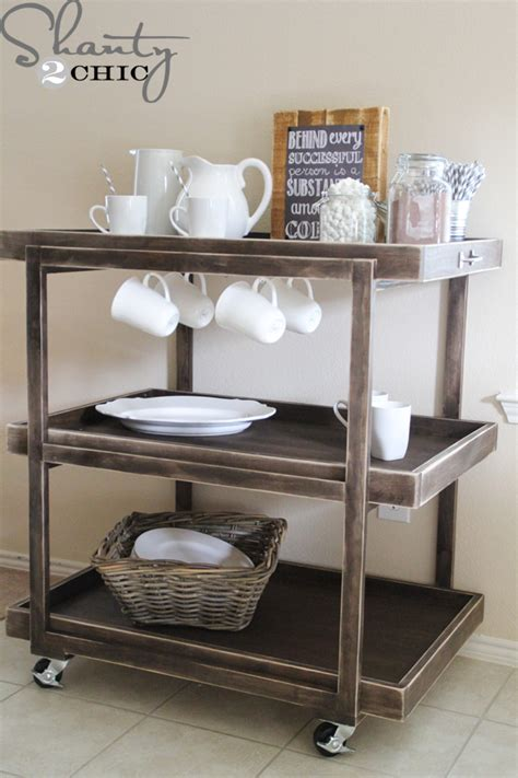 diy bar cart shanty  chic