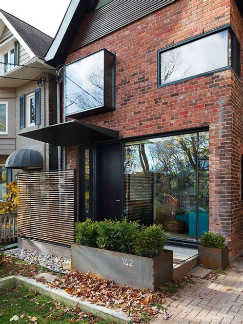 early 1900s toronto home with a glassy modern renovation