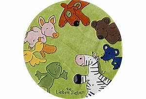 Teppich Die Lieben Sieben : die lieben sieben kinder teppich rund gr n ko tex zertifiziert tiere b r zoo bauernhof hund ~ Whattoseeinmadrid.com Haus und Dekorationen
