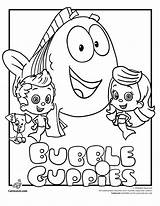 Molly Bubble Coloring Guppies Pages Olivia Friends sketch template