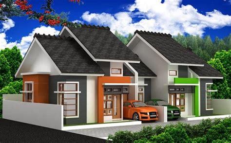 contoh denah  desain rumah minimalis type  burangircom
