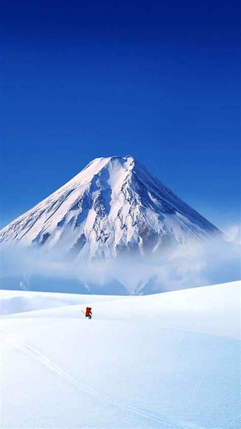 Hd Snowy Mountain Wallpaper 超高清雪山壮阔风景手机屏保壁纸 苹果 壁纸下载 美桌网