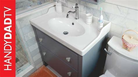 ikea hemnes vanity installation master bath remodel