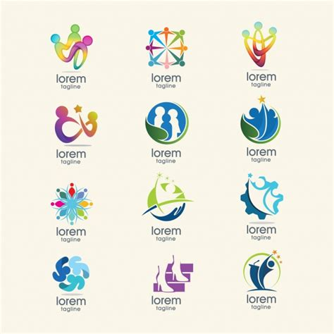 Free Logo Templates by Abstract Logo Templates Collection Vector Free