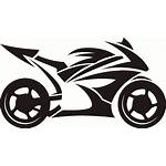 Motorcycle Bike Tattoos Tribal Clipart Sticker Decal