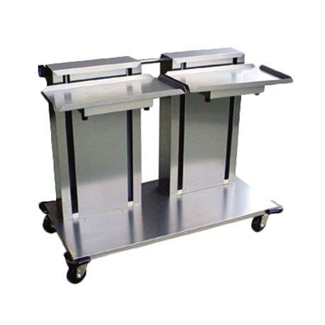 lakeside  tray glasscup rack dispenser cantilever style mobile   leveling tray