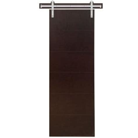 interior barn door hardware home depot steves sons 30 in x 90 in modern stained hardwood