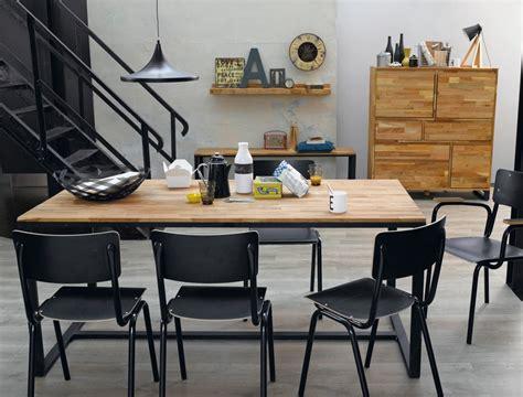 table cuisine style industriel déco salle a manger style industriel
