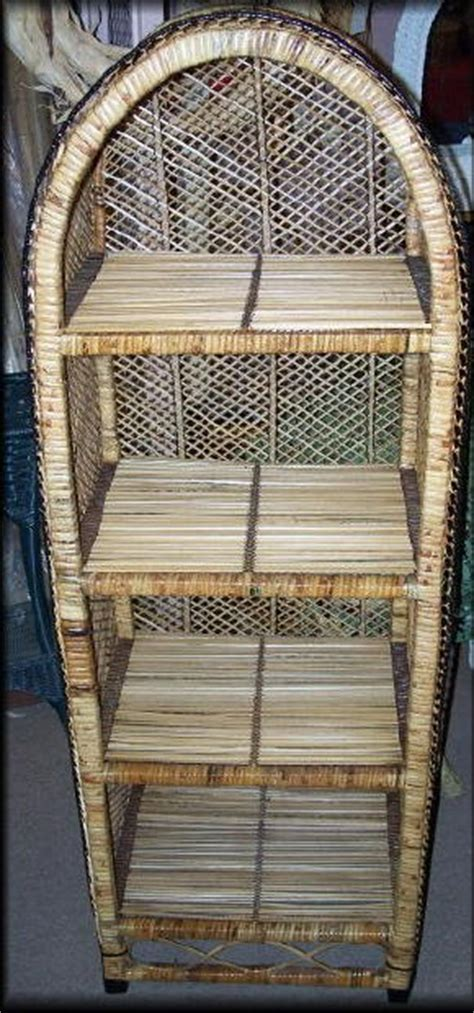 Wicker Etagere by Wicker Rattan Arched Shelf Etagere Small All