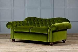 Furniture: Adorable Green Velvet Sofa For Home Furniture