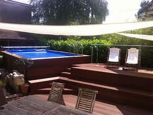 Bois Terrasse Piscine : piscine hors sol int gr e dans une terrasse bois id es pour la maison table poker table et ~ Melissatoandfro.com Idées de Décoration