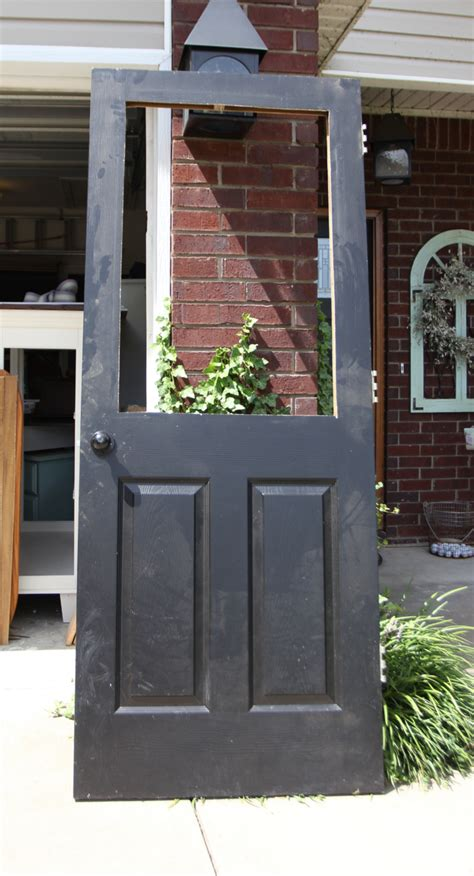 how to install doors remodelaholic how to add a glass window to a hollow