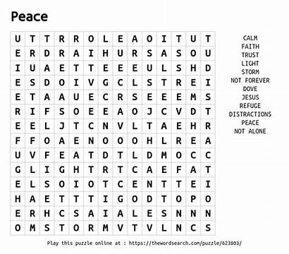 Puzzle Peace Word