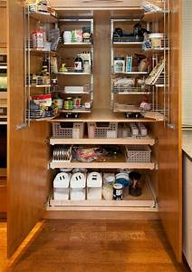 some adorable ideas in organizing your kitchen pantry With large multi function kitchen island for practical kitchen