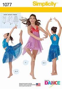 Simplicity 1077 Girls U0026 39     Misses U0026 39  Knit Dancewear
