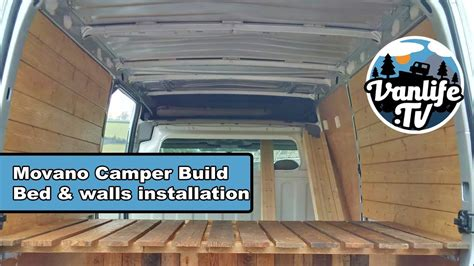 fitting  floor bed walls vauxhall movano camper