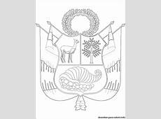 Desenho Brasão de armas do Peru para colorir Desenhos